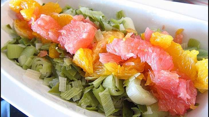 salade de poireaux aux agrumes recette par ladymilonguera. Black Bedroom Furniture Sets. Home Design Ideas