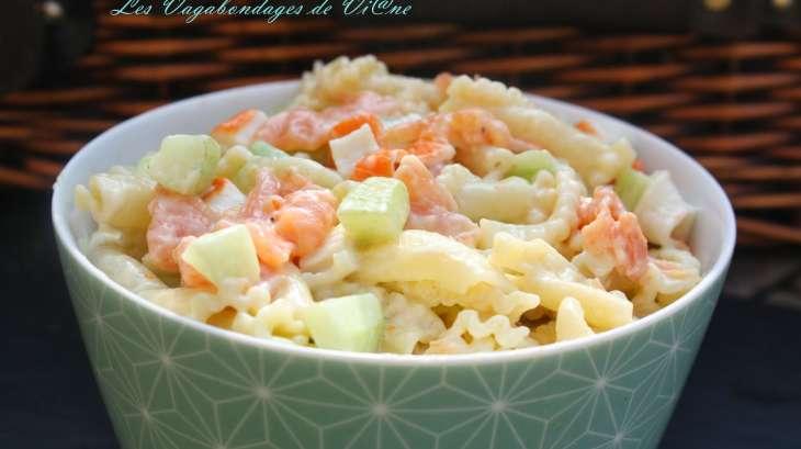 salade de p 226 tes saumon surimi concombre recette par les vagabondages de vi ne