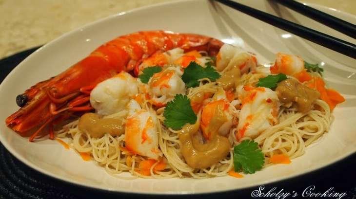Salade de vermicelles de riz aux crevettes recette par schotzy - Peut on donner du riz cuit aux oiseaux ...