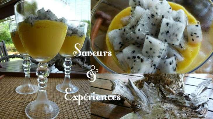 Crème de Mangue et Salade de Pitaya