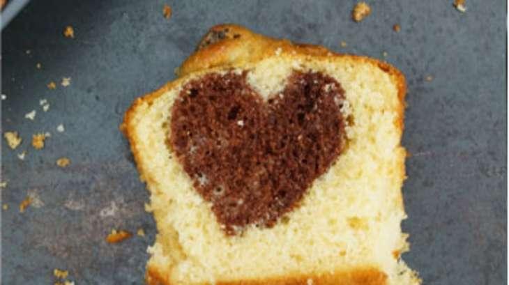 Gateau yaourt avec coeur chocolat