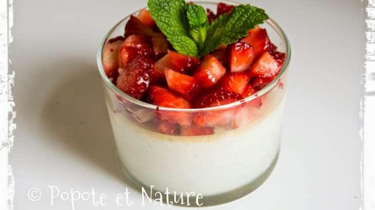 Une panna cotta aux fraises fra ches sans agar agar et sans g latine recette par popote et nature - Panna cotta sans gelatine ...