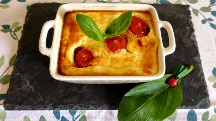 Clafoutis tomates cerises et feta
