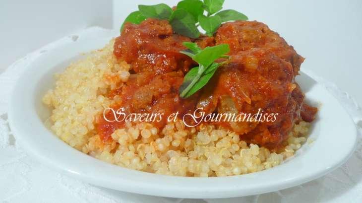 boulettes de viande au quinoa recette par nadji. Black Bedroom Furniture Sets. Home Design Ideas