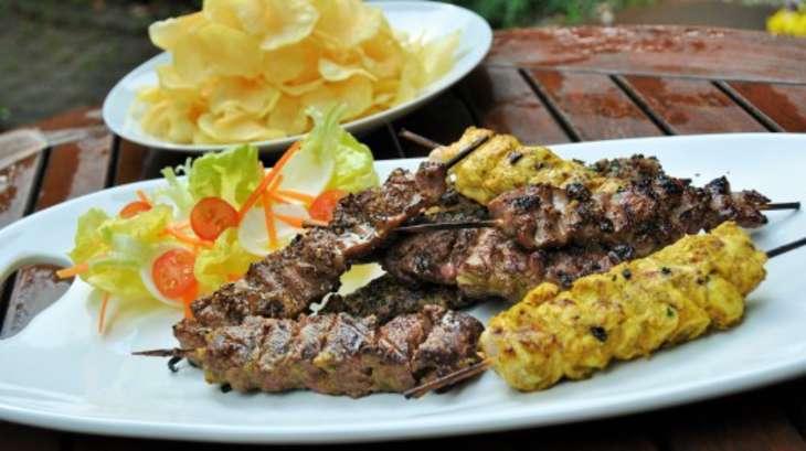 Barbecue de brochettes de viande grill e recette par st phane d cotterd - Recette andouillette grillee ...