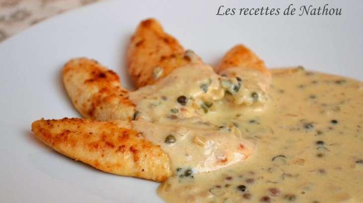 Aiguillettes de poulet sauce au poivre vert recette par ma cuisine au fil de mes id es - Cuisiner aiguillette de poulet ...