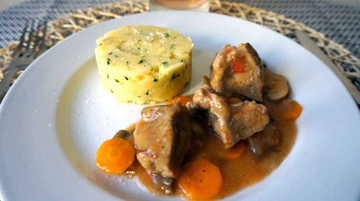 Saut de porc et son cras e de pomme de terre recette par pretty chef - Race de pomme de terre ...