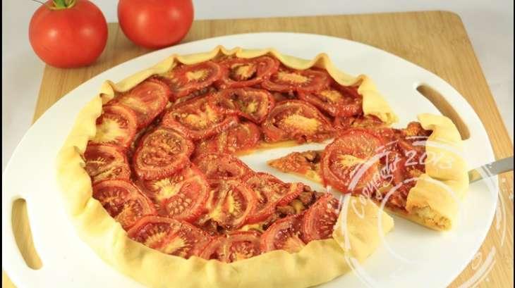 tarte au thon tomates et moutarde recette par ladymilonguera. Black Bedroom Furniture Sets. Home Design Ideas