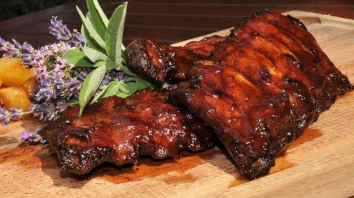 Des travers de porc laqu s au miel et gingembre recette par st phane d cotterd - Cuisiner travers de porc ...