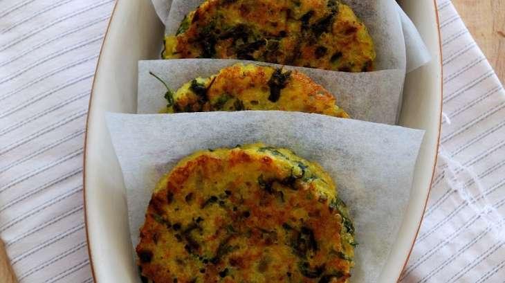 galettes de quinoa aux fanes de carotte - recette par une aiguille