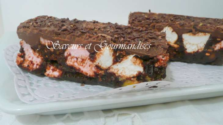 Barres croquantes aux chocolats et marshmallows
