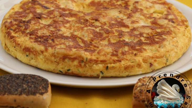 tortilla espagnole aux pommes de terre et lardons fum s recette par a prendre sans faim. Black Bedroom Furniture Sets. Home Design Ideas
