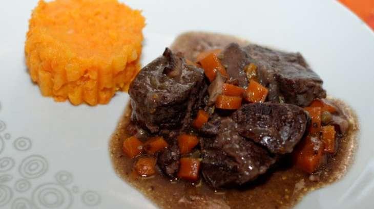 Joue de b uf brais e comme une daube pur e de carottes pomme de terre recette par ma cuisine - Joue de boeuf prix ...