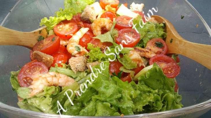 Salade aux crevettes grillées