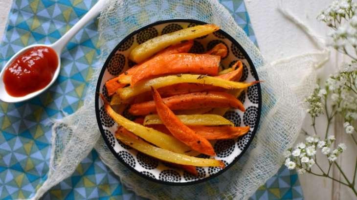 Frites de patates douces et de rutabaga aux herbes