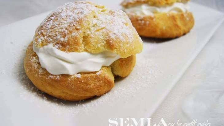 Semla ou le petit pain brioché gourmand venu de Suéde #Foodista Challenge#