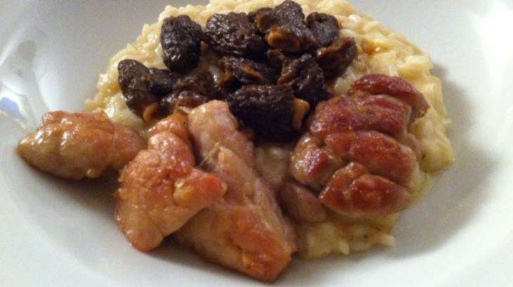 Ris de veau risotto aux morilles recette par la cuisine - Comment cuisiner des ris de veau congeles ...