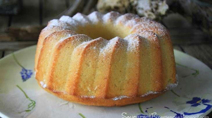 gâteau au citron, vanille, lait de coco et rhum - recette par