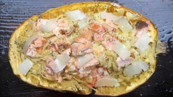 Courge spaghetti aux deux saumons par cuisiner en paix - Cuisiner la courge spaghetti ...