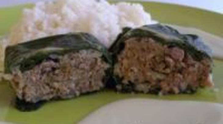 Feuilles de blettes farcies la viande et au riz par - Comment cuisiner des feuilles de blettes ...
