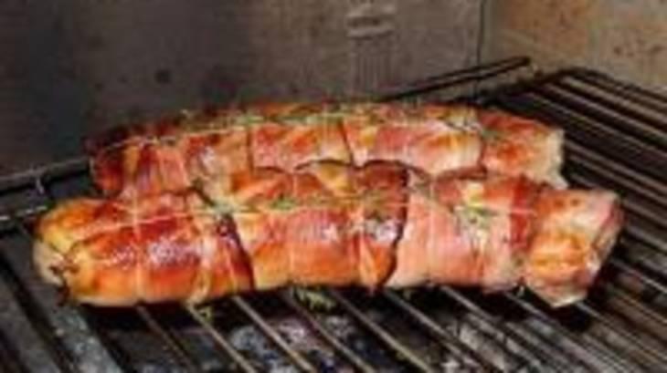 Filets mignons la moutarde et au jambon de pays grill au barbecue par certi 39 ferme - Recette maquereau grille barbecue ...