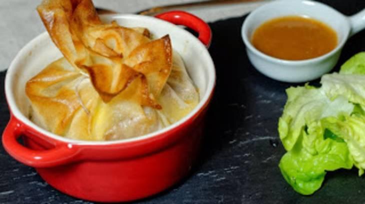 Croustillant d 39 andouille de bretagne sauce au pommeau par for Entree chaude original