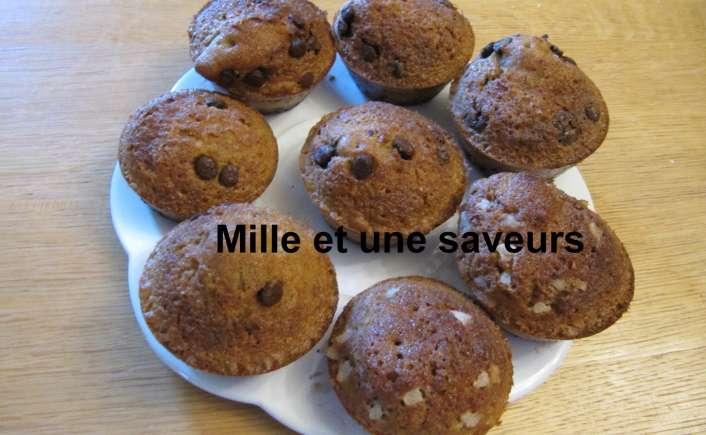 Muffin perles de sucre, muffin pépites de chocolat sans gluten - mille et une saveurs dans ma cuisine