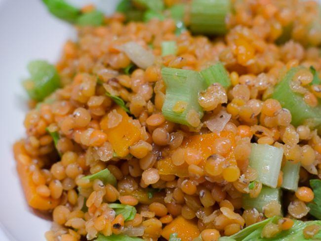 salade de lentilles corail aux carottes et au c leri par piratage culinaire. Black Bedroom Furniture Sets. Home Design Ideas