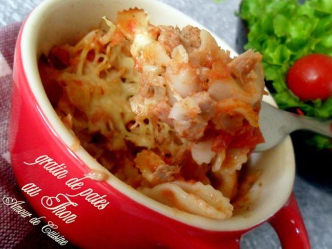 Gratin de pates au thon par amour de cuisine - Recette amour de cuisine ...
