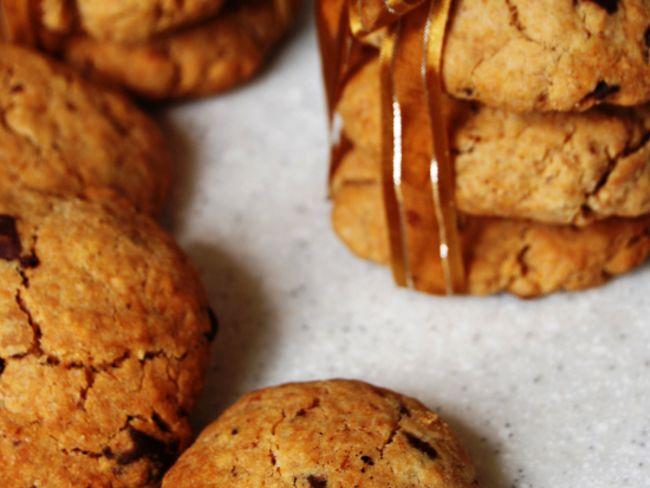 Cookies au beurre de cacahu te et p pites de chocolat par make me green - Cookies beurre de cacahuete ...
