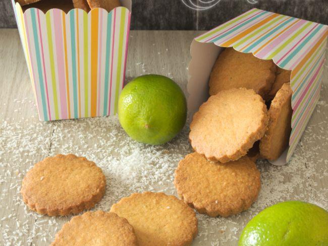 Le sablé à la noix de coco et au citron vert
