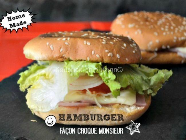 hamburger fa on croque monsieur la plancha par kaderick. Black Bedroom Furniture Sets. Home Design Ideas