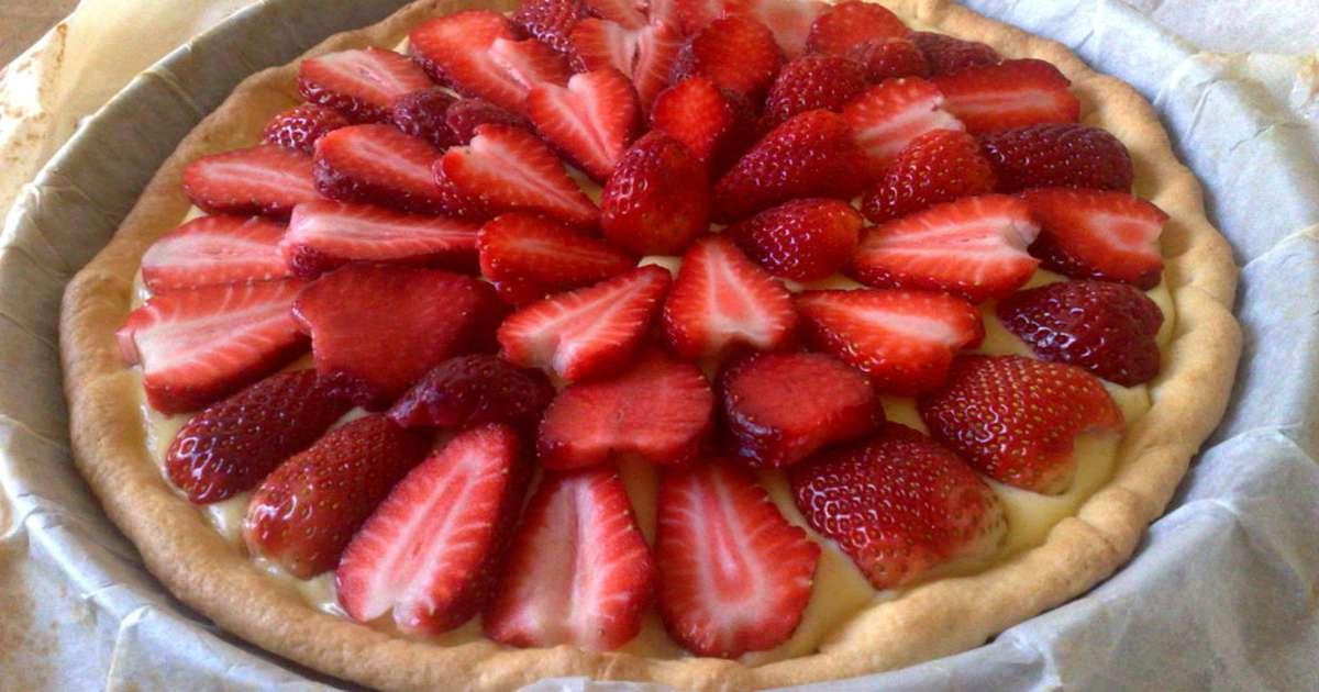 tarte aux fraises recette de la tarte aux fraises ou aux framboises recette par chef simon. Black Bedroom Furniture Sets. Home Design Ideas