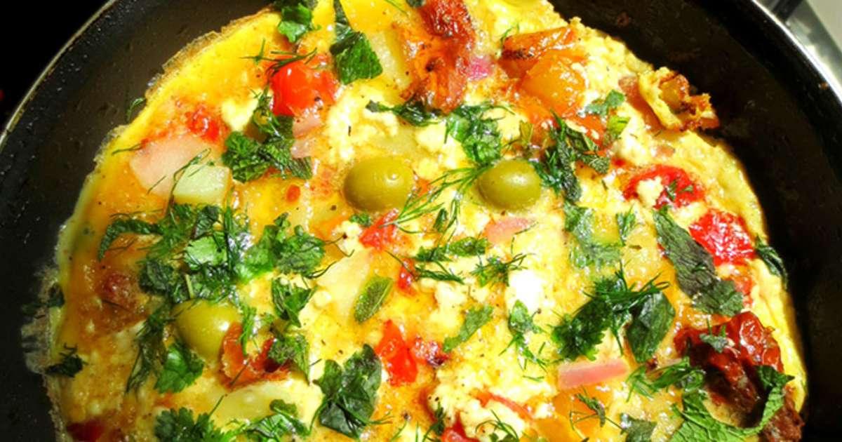 Omelette la grecque recette par je cuisine donc je suis for Aux beaux rivages la cuisine