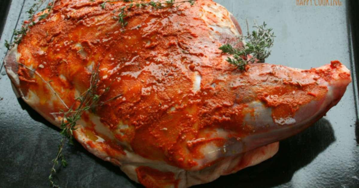 Epaule d agneau au four la harissa recette par happy - Cuisiner la cervelle d agneau ...