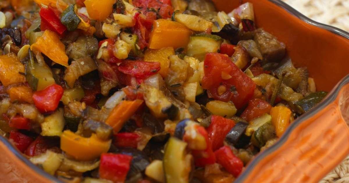 Ratatouille au four recette par jardin des - Cuisiner des aubergines au four ...