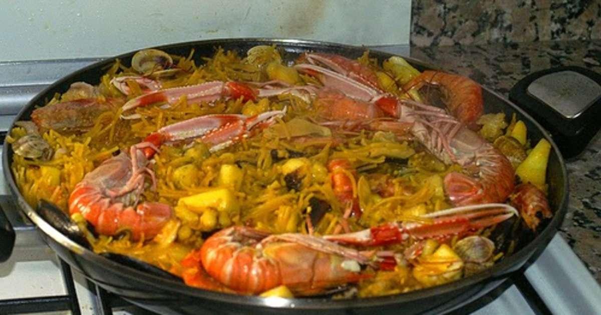Fideu une paella valencienne aux p tes vermicelles espagne valence recette par streetfood - Recette de la paella espagnole ...