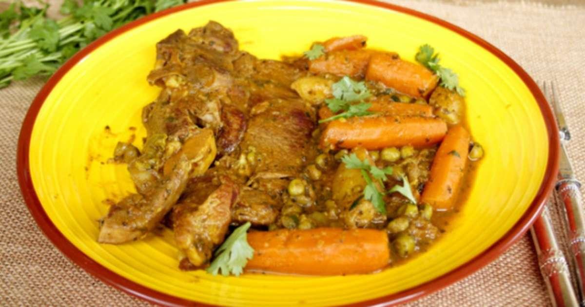 Tajine de tendrons de veau aux carottes pommes de terre - Comment cuisiner des petit pois en boite ...