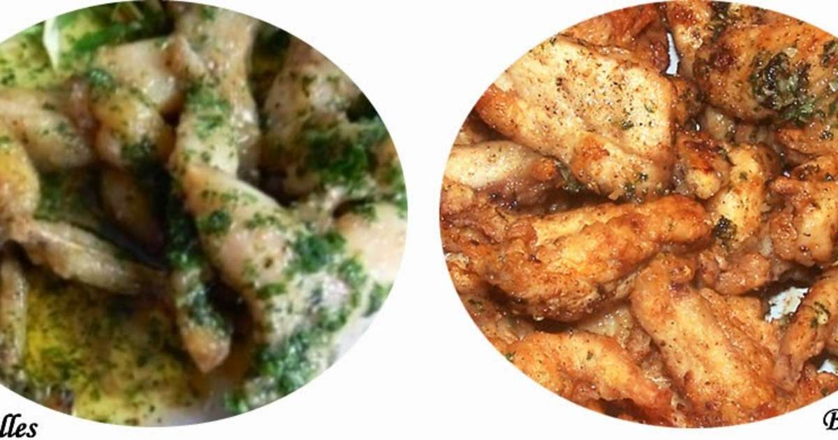 Cuisses de grenouilles en persillade fines herbes - Cuisiner cuisses de grenouilles surgelees ...