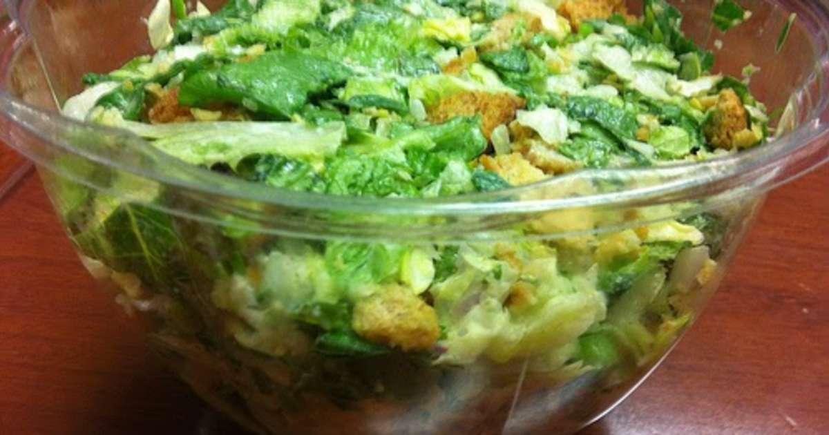 Recettes de croutons et d 39 anchois - Salade verte composee ...