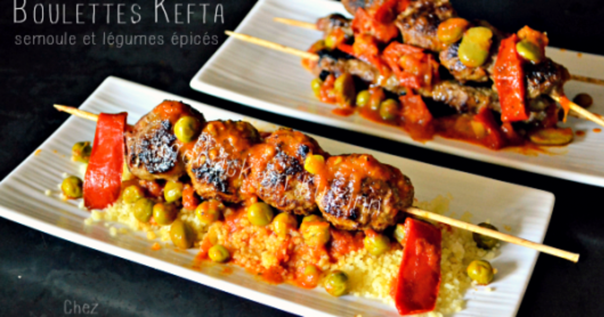 kefta en brochettes la plancha et l gumes pic s recette par kaderick. Black Bedroom Furniture Sets. Home Design Ideas