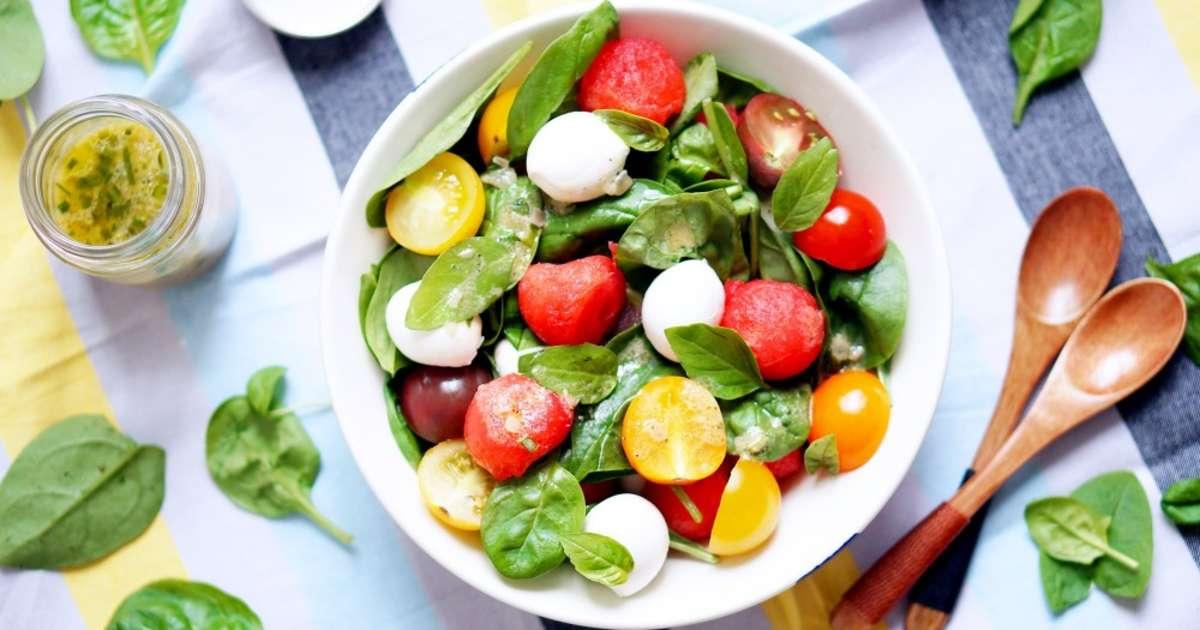 Salade de past que tomate cerise mozzarella et pousses d 39 pinard recette par pretty chef - Salade de pasteque ...