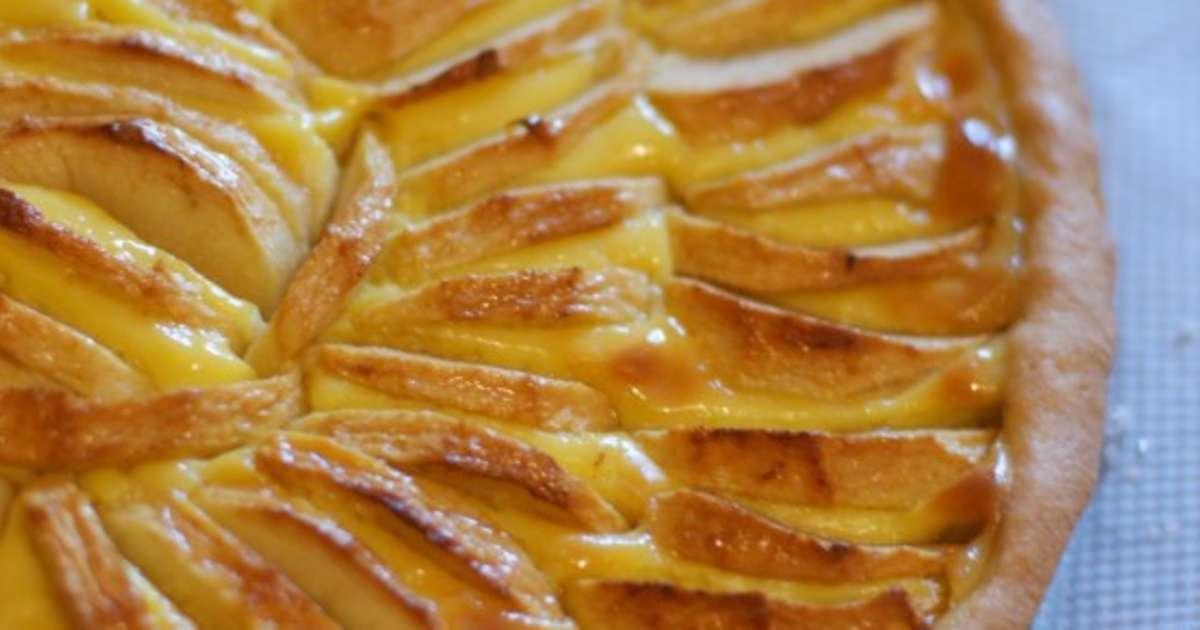 tarte flan aux pommes recette par amour de cuisine. Black Bedroom Furniture Sets. Home Design Ideas
