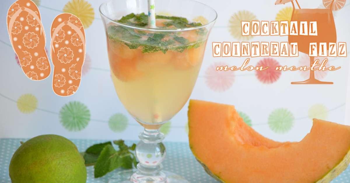 Cocktail cointreau fizz melon menthe recette par turbigo for Cointreau mixed drinks