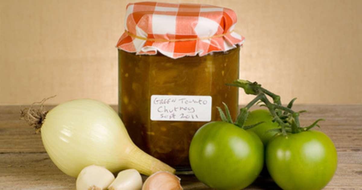 Chutney de tomates vertes recette de chutney de tomates vertes recette par chef simon - Cuisiner des tomates vertes ...