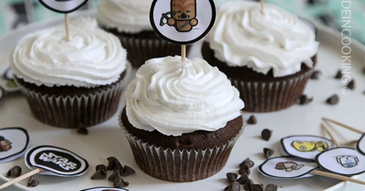 cupcake chocolat et gla age cr me de coco recette par made in cooking. Black Bedroom Furniture Sets. Home Design Ideas