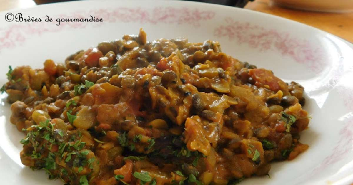 Dhal aux lentilles corail lentilles vertes et pois cass s recette par br ves de gourmandise - Cuisiner les lentilles vertes ...