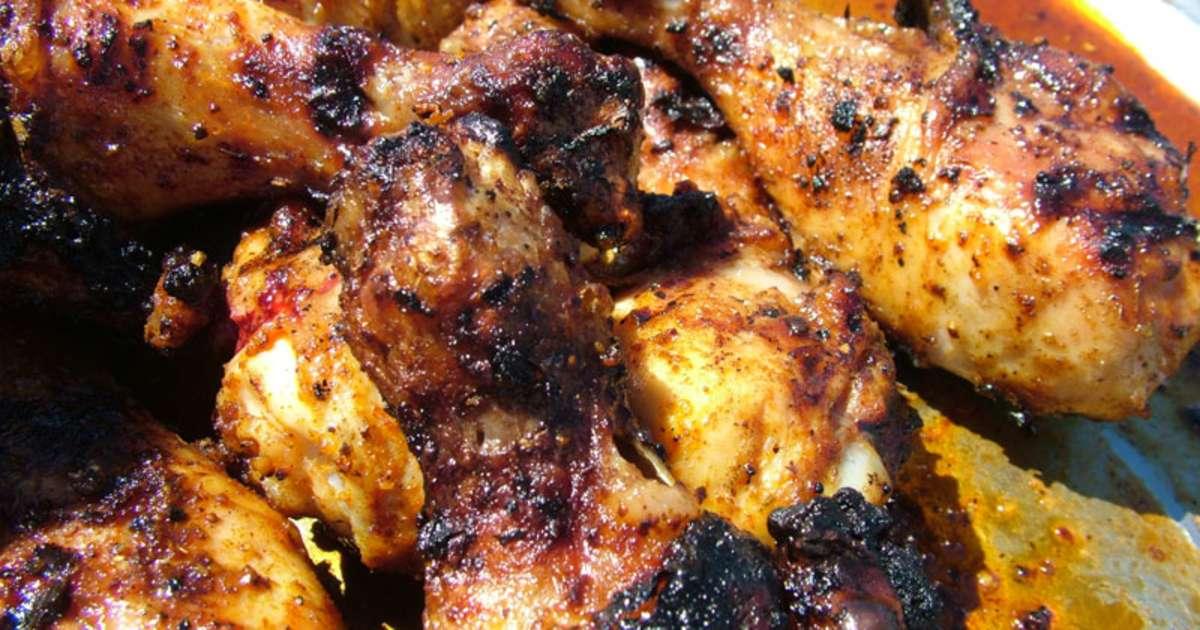 Cuisses de poulet au barbecue marinade au sirop d 39 rable recette par recettes du chef - Poulet grille au barbecue ...
