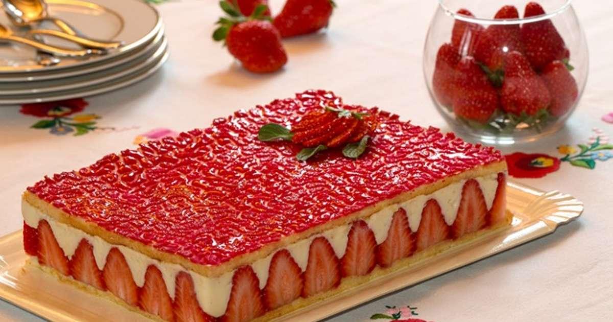 Le fraisier un des desserts pr f r s des fran ais une for Decoration d un fraisier