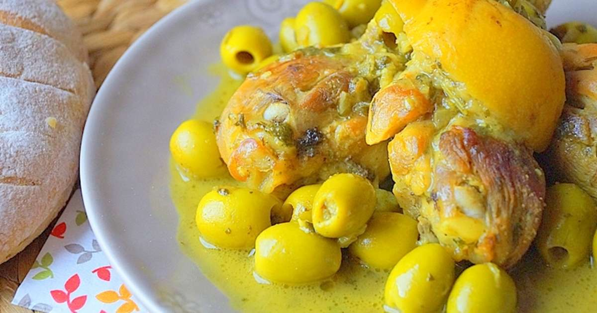 tajine de poulet au citron confit et olives recette par auxdelicesdupalais. Black Bedroom Furniture Sets. Home Design Ideas